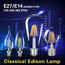 tsleen edison 4w 16w cob filament light industry style bright led