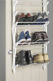 Unbelievable Storage Wall The Door Shoe Rack Pair White Fisnish Slide Out Image For Inspiration And