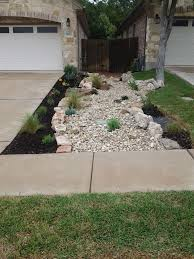 Front Yard Landscape - Dry Creek Bed Using Really Cool Limestone ... Best 25 Large Backyard Landscaping Ideas On Pinterest Cool Backyard Front Yard Landscape Dry Creek Bed Using Really Cool Limestone Diy Ideas For An Awesome Home Design 4 Tips To Start Building A Deck Deck Designs Rectangle Swimming Pool With Hot Tub Google Search Unique Kids Games Kids Outdoor Kitchen How To Design Great Yard Landscape Plants Fencing Fence