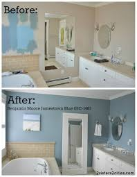 Gray And Teal Bathroom by Master Bathroom Paint Color Reveal Master Bathrooms Paintings