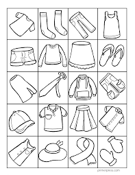 Baby Clothes Coloring Pages With