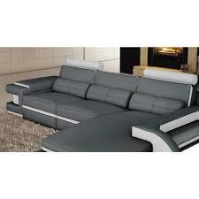 canapé droit design canapé d angle cuir gris et blanc design avec lumière ibiza angle