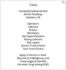 Multiple Positions, Haines & Kibblehouse Inc, Hazleton, PA Truck Driving Jobs Heartland Express Truck Driver Job Description Ukranagdiffusioncom Black And Gold Towing Aaa Flatbed Service Drivers Job Listing In Dart Transit Company Eagan Mn Help Wanted Je Herring Motor Co Trucking Serving New Jersey Pennsylvania Pladelphia In Lancaster Pa Best Image Kusaboshicom Lifetime Placement Assistance For Your Career Sage Schools Professional Cover Letter For Driver Resume Examples Science Fiction Or The Future Of Trucking Penn Today