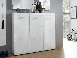 Simms White Modern Shoe Cabinet by Germania Adana 3 Door Shoe Cabinet In White High Gloss Hallway