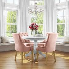 Small Round Dining Table In White With 4 Velvet Chairs In Pink - Rhode  Island & Kaylee 10 Upholstered Ding Chairs Cabriole Legs Lloyd Flanders Round Back Wicker Chair Arenzville Mahogany Wood Pedestal Table With 6 Set Pre Order Aria Concrete Granite Ding Table 150cm 4 Jsen Leather Chair Package Small In White Velvet Pink Rhode Island Kaylee Bedford X Rustic 72 With 8 Miles Round Ding Suite Alice Chairs A334b 1pc And A304 4pcs Patrick Milner Modern Dinette 5 Pieces Wooden Support Fniture New Tyra Glass On Gloss Latte Nova Seater