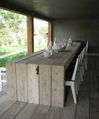 Rustic Dining Room Ideas Pinterest by The Table Is Made From A Pallet Buy The White Plastic Chairs And