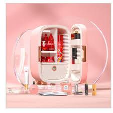 home schlafzimmer tragbare hautpflege make up kosmetischen mini kühlschrank mit spiegel