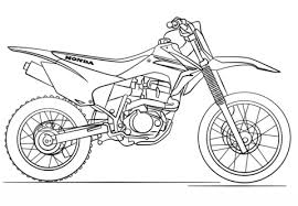 Click To See Printable Version Of Honda Dirt Bike Coloring Page