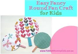 Summer Craft Ideas Tutorial Easy Fancy Round Hand Fan For Kids Fun And Crafts Art Projects
