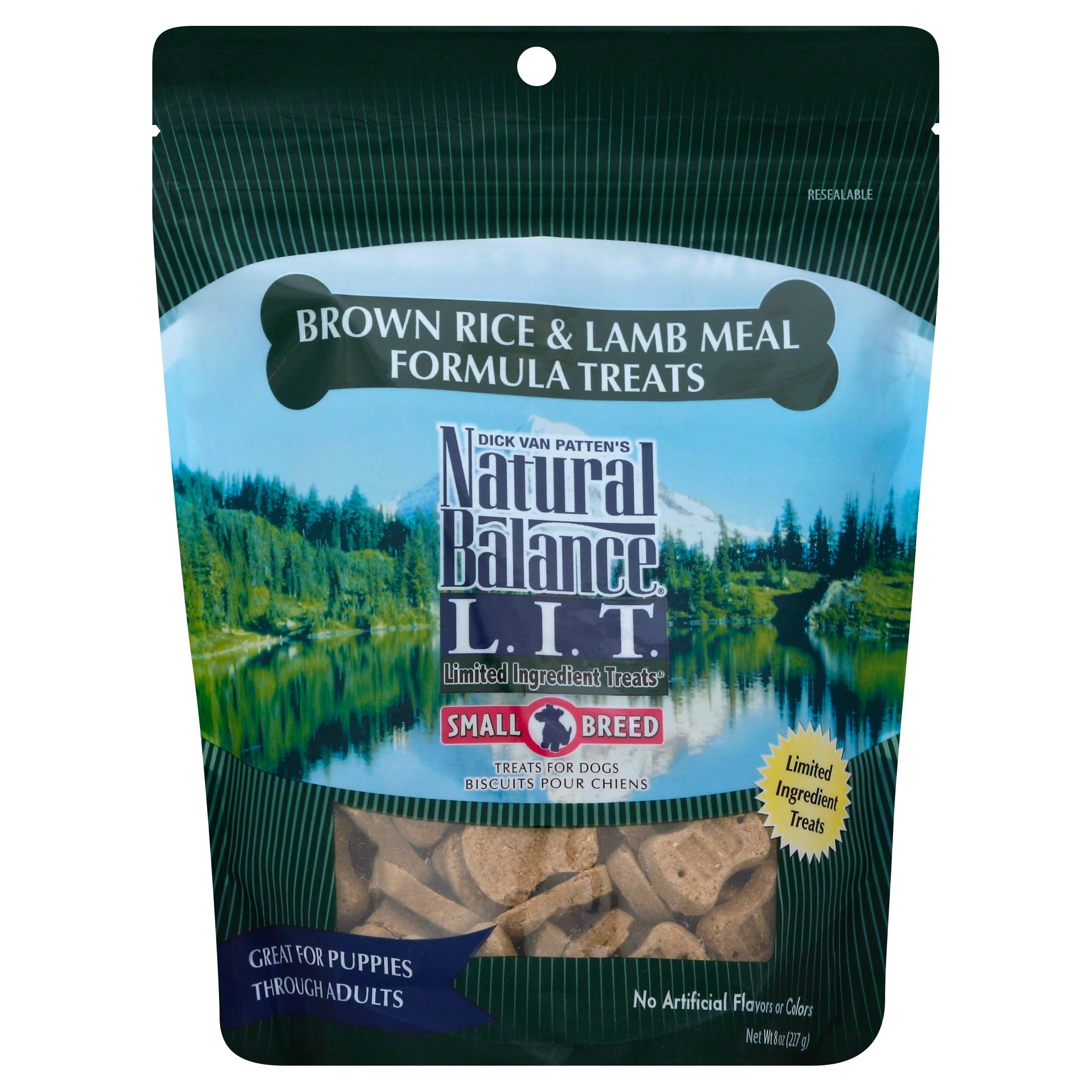 Natural Balance Limited Ingredient Treats for Dogs - Brown Rice and Lamb Meal Formula, 8oz