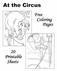 These Free Printable Circus Coloring Sheets Of Pictures Are Fun For Kids