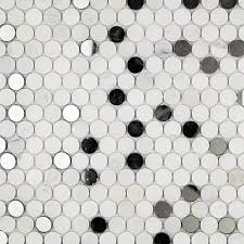 Casa Antica Tile Marble by Paradigm Asian Statuary And Mirror Penny Round Marble And Glass