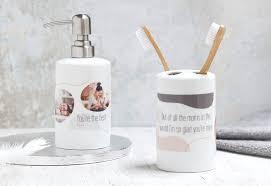 badezimmer accessoires mit eigenem foto bedrucken