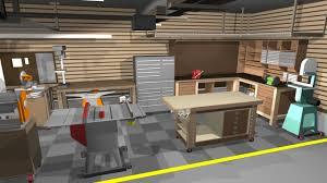 Home Shop Layout And Design Remarkable Garageshop Corner L Shape Workbench Woodworking Talk House