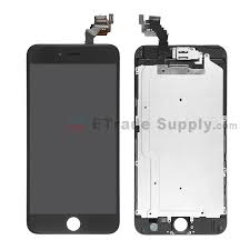 Apple iPhone 6 Plus LCD Assembly with Frame and Small Parts Black