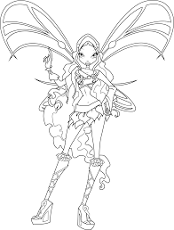 Simple Winx Club Coloring Pages For Girls