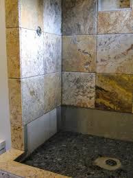 pebble tile shower floor reviews river bathroom rock walls