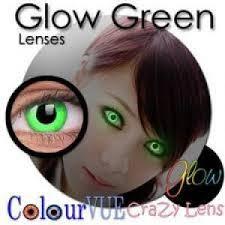 Prescription Contact Lenses Halloween Uk by Colourvue Fashion Crazy Contact Lenses Glow Green For Jenni