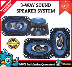 Car Speakers 240 Watt 3 Way Full Loud Range Auto Stereo Truck Audio ...