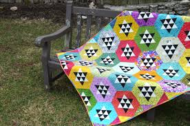 Modern Quilts Unlimited New Hexi Quilt Color Girl Quilts by