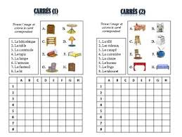 12 French Furniture Vocabulary Puzzles Lots Of Uses And Possibilities
