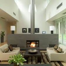 fireplace in the middle of the room home pinterest middle