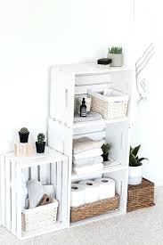 Wooden Crate Shelves How To Decorate A Bathroom Using Crates Shelf Ideas