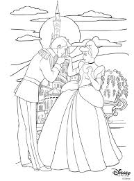 Disney Princess Coloring Pages Cinderella 11 And Prince Charming Page