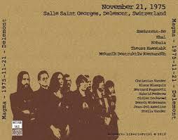 salle st georges delemont magma 1975 11 21 delemont guitars101 guitar forums