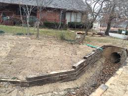 Perforated Drain Tile Menards by Railroad Tie Retaining Wall Installation In Tulsa Railroad Tie