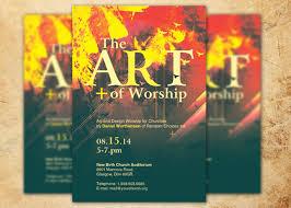 Art Of Worship Church Flyer Template