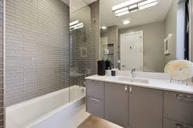 san francisco gray shower tile bathroom contemporary with polished