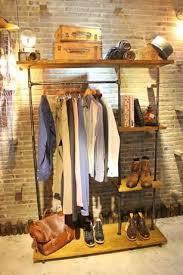 Clothing Rack Industrial Garment Racks Vintage Style Clothes Display