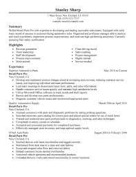 Parts Manager Resume Create My Of A Automotive Sample