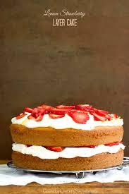 Lemon Strawberry Layer Cake