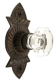 Cabinet Hardware Backplates Bronze by 1 3 8 Inch Crystal Octagon Knob Eastlake Backplate Oil Rubbed