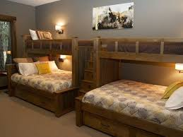custom bunk beds lake house perpendicular twin over queen or full