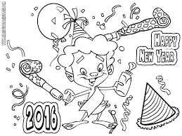 Disney New Years Coloring Pages