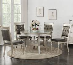 Round Dining Room Set For 4 by Poundex F2428 Silver Round Table Set Round Dining Set For Sale