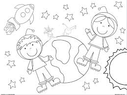Outer Space Coloring Pages For Kids Ideas