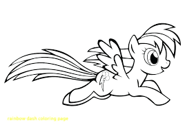 Coloring Pages Of Rainbow Dash Color Page With