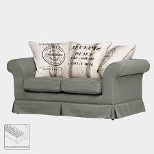 maison belfort sofa cagne grau webstoff landhaus