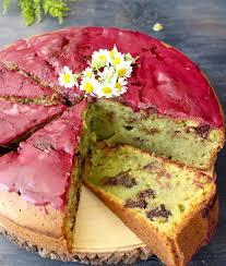 Blueberry Glaze Avocado Cake