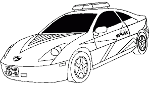 Printable 29 Police Car Coloring Pages 6113