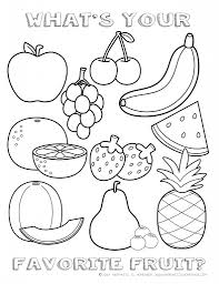 Fruit Coloring Pages Printable Healthy Eating Chart Something New Download