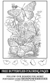 FREE Butterfly Coloring Pages For Girls