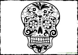Day Of The Dead Skull Free Coloring Pages