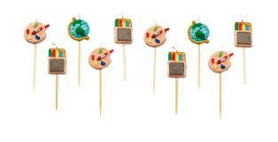 10 deko kerzen schulanfang z bsp für muffins oder kuchen