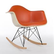 Original Herman Miller Orange Vinyl Eames RAR Arm Shell ... Black 2014 Herman Miller Eames Rar Rocking Arm Chairs In Very Good Cdition White Rocking Chair Charles Ray Eames And For Vintage Brown By C Frank Landau For Sale Rope Edge Chair 1950s Midcentury Modern Rar A Pair 1948 Retro Obsessions