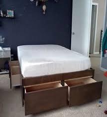 california king platform bed frame plans diy useful